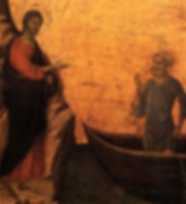 Detail from Duccio di Buonisegna's painting, Jesus calling Peter and Andrew