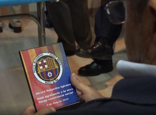 La Penya Blaugrana Josep Raich homenatja als seus socis