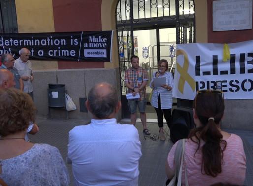 Última concentració per l'alliberament dels presos independentistes abans de la sentència del judici
