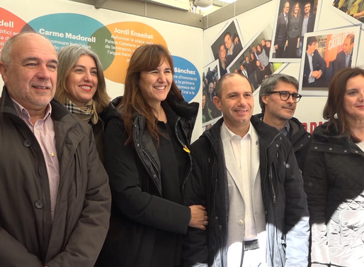 Laura Borràs visita per primera vegada la Fira de la Candelera