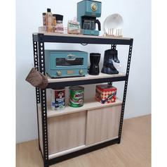 角鋼電器櫃廚具櫃+滑門底櫃