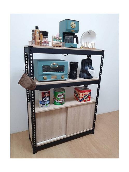 DIY工業風廚具櫃置物櫃訂做W90D30H120(含滑門櫃x1,雙北桃竹免運)