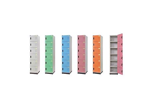 全鋼門片-六格鑰匙置物櫃(高)W39.3D35H185.2cm