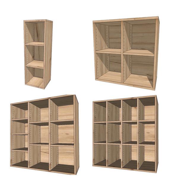 2. 選櫃型(以直排做單排~5排櫃)