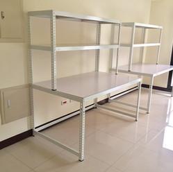 白色角鋼組合桌