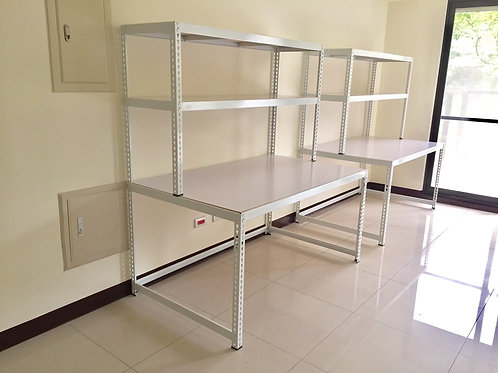 DIY白色角鋼組合桌(尺寸可訂製、可選貼皮)