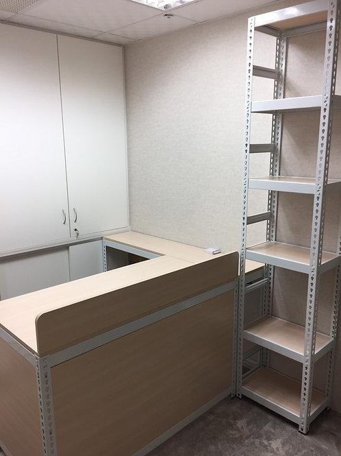 角鋼L型屏風辦公桌訂做W120D60H75側桌W135D30H75(尺寸可訂做)