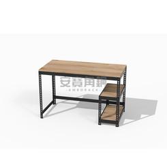 桌+下架兩層+一寬一深桿