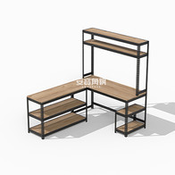 組合桌架組:三層架+組合桌C