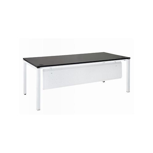 方管美耐桌200x90-含擋板(桌板4色)