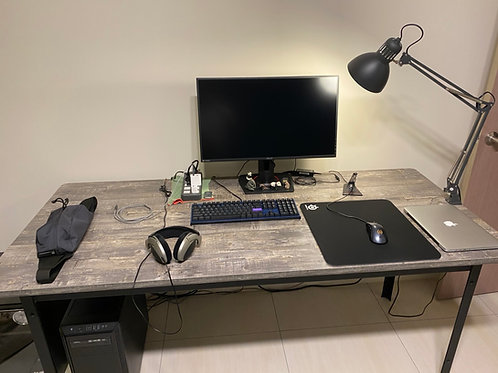 訂做合身角鋼桌(工作桌、書桌、電腦桌、餐桌、辦公桌)W180D80H77尺寸可訂做貼皮任選