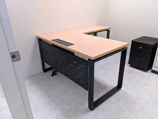 方管鐵腳系列-L桌如何訂做