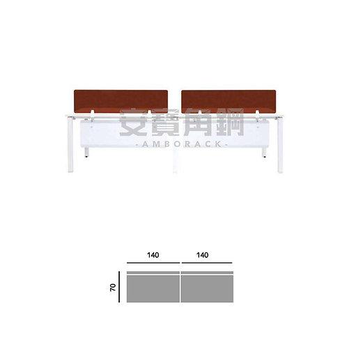 2人辦公屏風-平坐桌屏