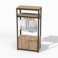 衣櫃組上兩板+底櫃滑門櫃