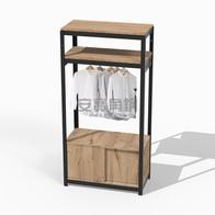 衣櫃組 上兩板+吊衣桿+底櫃