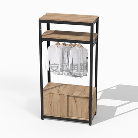 衣櫃組 上兩板+底櫃滑門櫃+吊衣桿組