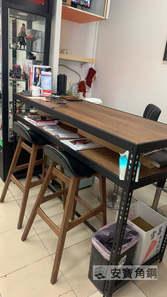 高腳桌 黑砂紋+8mm美芯板:切爾克斯核桃