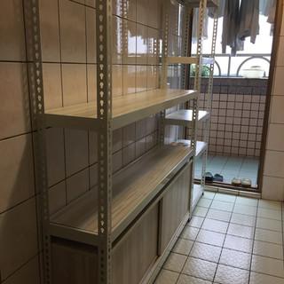 W149D29H45滑門底櫃訂做(角鋼架內嵌櫃) 色號:藝術橡木 角鋼估價區可估價