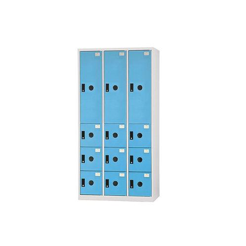 三排櫃-12門櫃(3大9小)