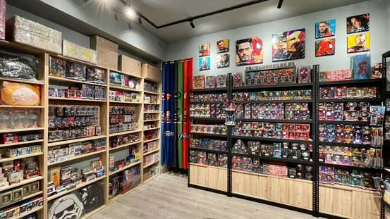 安寶角鋼櫃+系統木櫃, 店面展示櫃組訂做