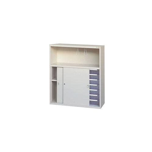 印表機櫃-鐵門櫃附文件抽x7