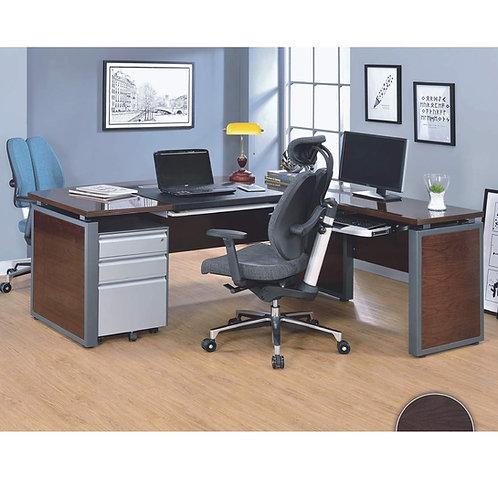 高級胡桃木L型主管桌180x190