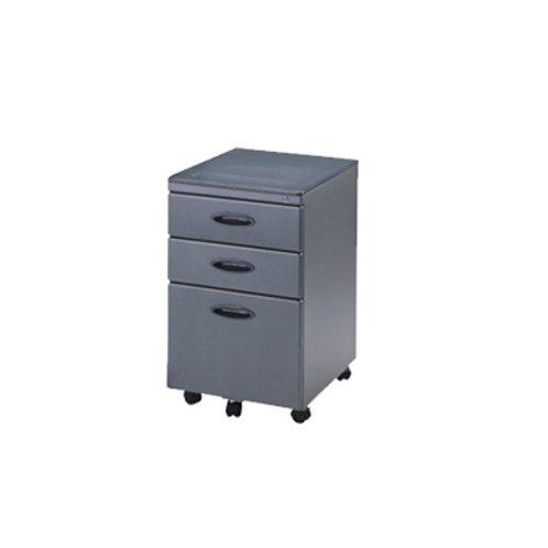 圓把活動櫃(黑灰2色)W39.5xD55xH66cm