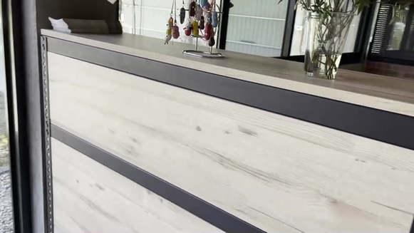 桌+架+三面封板=櫃臺, 色號:里斯本橡木, 可點看系統上方估價範例自行估價喔!