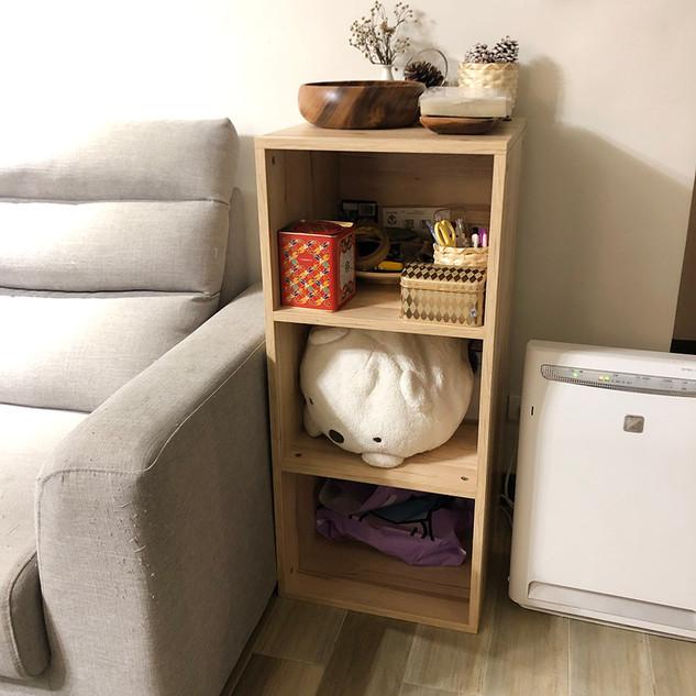 系統櫃木櫃,兩片活格, 色號: 里斯本橡木 系統自動估價