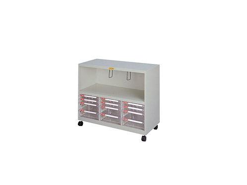 矮櫃附輪-下櫃附文件抽x12-W93xD40.2xH74cm