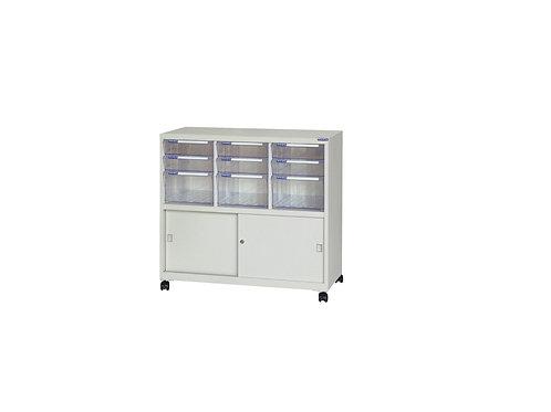 矮櫃附輪-上櫃附文件抽x9-W93.1xD40.2xH88cm