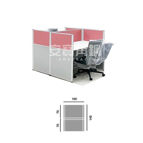 2人辦公屏風-工字型對坐