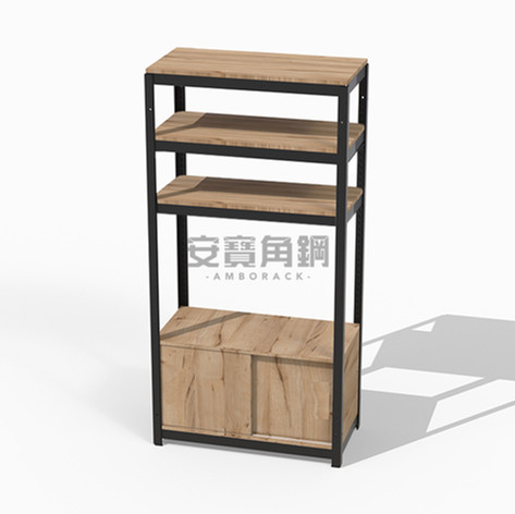 櫃架組 上三板+底櫃滑門櫃