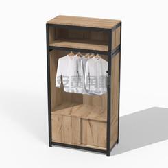 衣櫃組三面封板(吊衣桿處無封板會稍有縫隙)