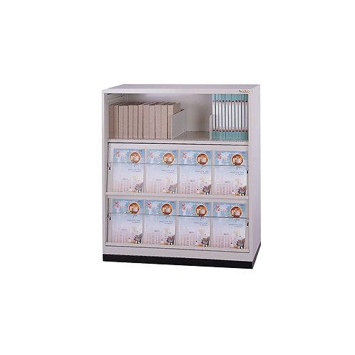 雜誌櫃-三排櫃-活動拉板x2