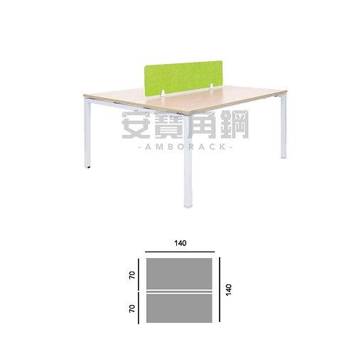 2人辦公屏風-對坐桌屏