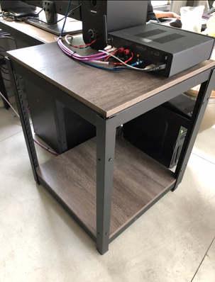 龐貝黑杉+封孔柱 -桌板跨放式18mm
