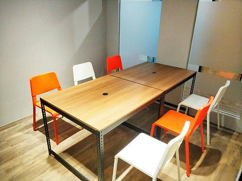 DIY黑砂紋角鋼會議桌單座W105xD90xH75(18mm跨放美芯板,尺寸可訂製、可選貼皮)