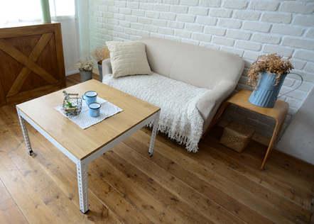 角鋼茶几-桌板跨放式18mm