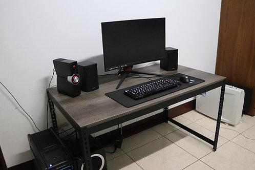 DIY黑砂紋角鋼工作桌W135xD75xH75(18mm跨放美芯板,尺寸可訂製、可選貼皮)