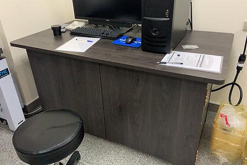 訂做合身角鋼桌(工作桌、工作櫃臺、櫃檯、書桌、電腦桌、辦公桌)W150D80H77尺寸可訂做貼皮任選(含下櫃門片、雙北桃竹含安裝)