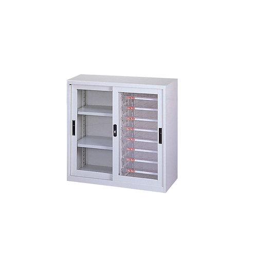 辦公鐵櫃-三層公文櫃附B5文件抽屜-寬93.1cm
