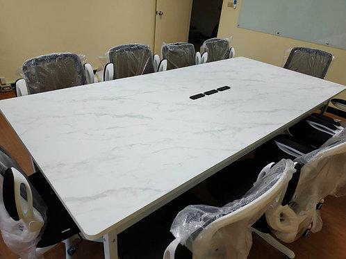 大會議桌尺寸訂做-角鋼會議桌(會議桌、書桌、電腦桌、餐桌、辦公桌)W260D120H77尺寸訂做貼皮任選(單台價格,插座需加購)