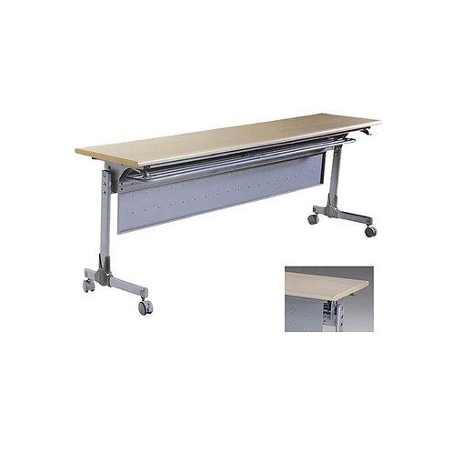 質感折疊桌/會議桌(附輪,4種尺寸,3種花色可選)