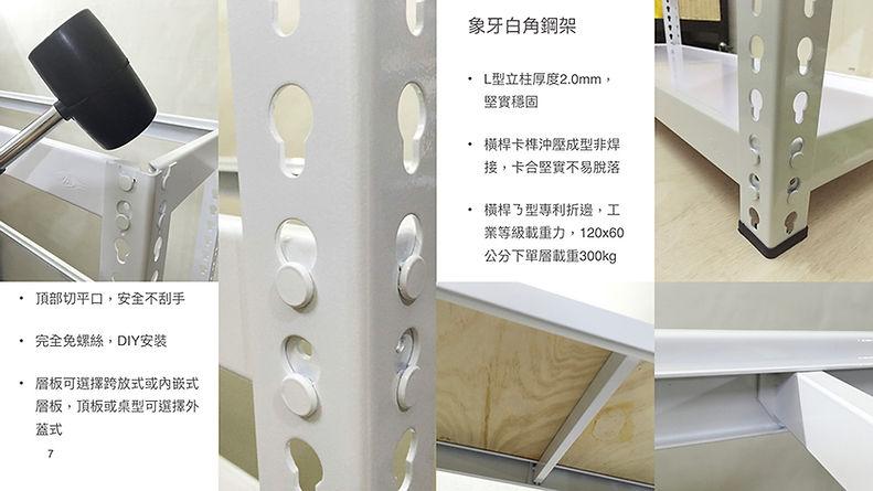 安寶角鋼 角鋼介紹 白色角鋼 免螺絲角鋼 專利摺邊 高載重角鋼