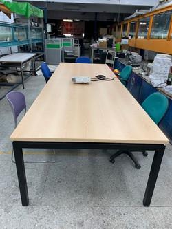 安寶工業風方管桌-天然楓木