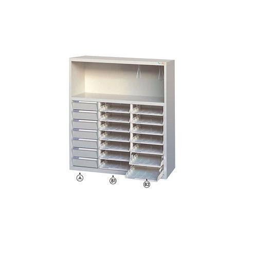 印表機櫃-附文件抽(耐衝擊x7、開放式x14)