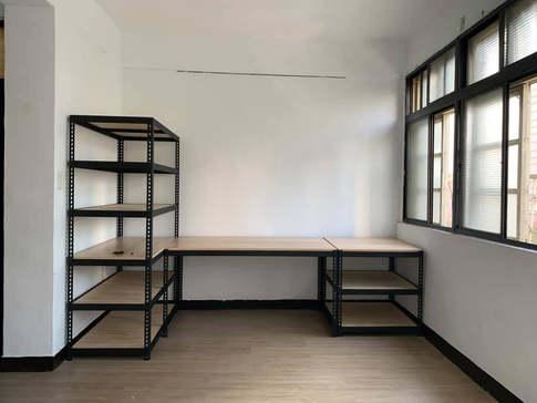 桌架組-黑砂紋+里斯本橡木