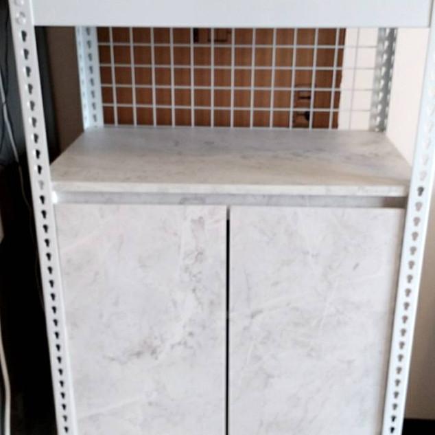 開門櫃,色號:白雲岩,搭配角鋼可至角鋼估價區選購