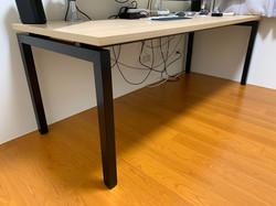 安寶工業風方管桌-ㄇ字腳